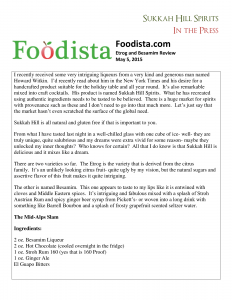 Foodista reviews Sukkah Hill Spirits May 2015-1